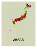 Japan Color Splatter Map