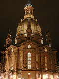 Church of Our Lady Dresden by Night