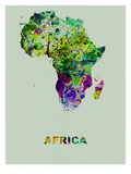 Africa Color Splatter Map