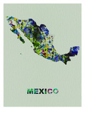 Mexico Color Splatter Map