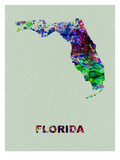 Florida Color Splatter Map
