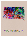 South Dakota Color Splatter Map