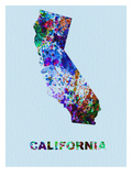 California Color Splatter Map
