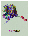 Alaska Color Splatter Map