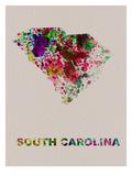 South Carolina Color Splatter Map