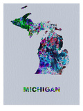 Michigan Color Splatter Map