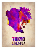 Tokyo Watercolor Map 2
