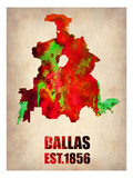 Dallas Watercolor Map