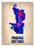 Phoenix Watercolor Map