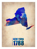 New York Watercolor Map