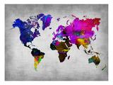 World Watercolor Map 13 Reproduction d'art par NaxArt
