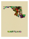 Maryland Color Splatter Map