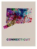 Connecticut Color Splatter Map