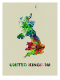 United Kingdom Color Splatter Map