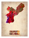 Philadelphia Watercolor Map