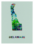 Delaware Color Splatter Map