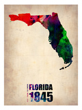 Florida Watercolor Map