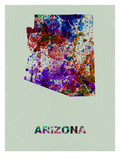 Arizona Color Splatter Map