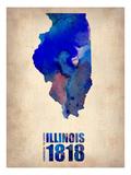 Illinois Watercolor Map