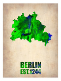 Berlin Watercolor Map