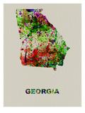 Georgia Color Splatter Map