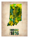Indiana Watercolor Map