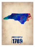 North Carolina Watercolor Map