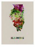 Illinois Color Splatter Map