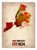 New York City Watercolor Map 2