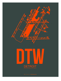 Dtw Detroit Poster 3