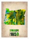 Oregon Watercolor Map