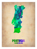Portugal Watercolor Map