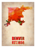 Denver Watercolor Map