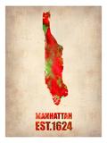 Manhattan Watercolor Map