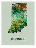 Indiana Color Splatter Map