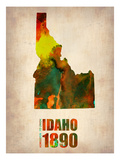Idaho Watercolor Map