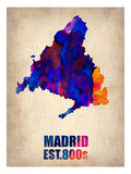 Madrid Watercolor Map