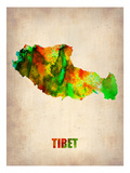 Tibet Watercolor Map