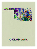Oklahoma Color Splatter Map