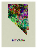 Nevada Color Splatter Map