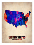 Usa Watercolor Map 1