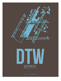 Dtw Detroit Poster 1