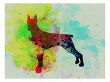Doberman Pinscher Watercolor