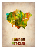 London Watercolor Map 1