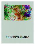 Pennsylvania Color Splatter Map