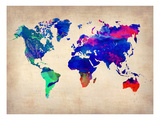 World Watercolor Map 2