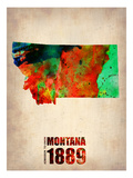 Montana Watercolor Map
