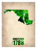 Maryland Watercolor Map