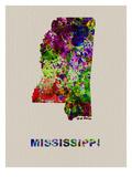 Mississippi Color Splatter Map