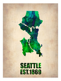 Seattle Watercolor Map